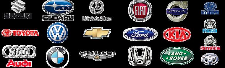 Logos das marcas de carros para venda de cabeçotes novos ou usados